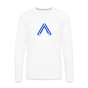 Arise Solid Blue - Men's Premium Long Sleeve T-Shirt