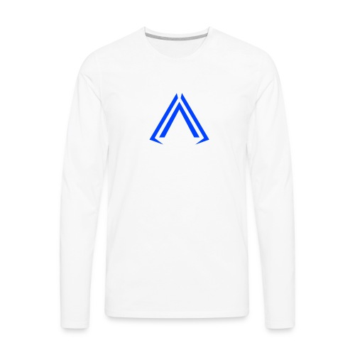 Arise Solid Blue - Men's Premium Long Sleeve T-Shirt