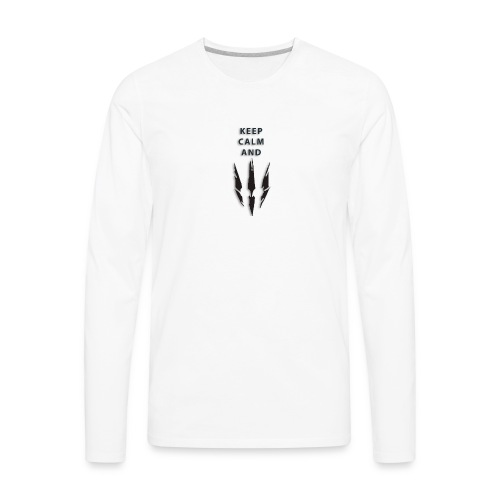 keep calm and love witcher III - Men's Premium Long Sleeve T-Shirt
