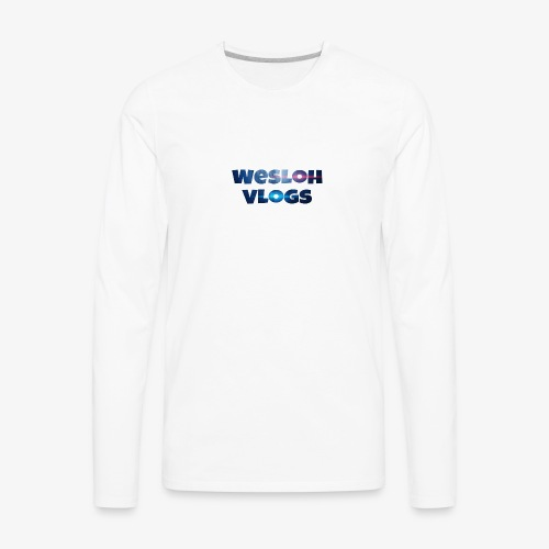 Wesloh Vlogs Word Logo - Men's Premium Long Sleeve T-Shirt