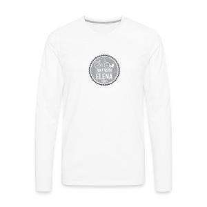 bike with elena - Men's Premium Long Sleeve T-Shirt