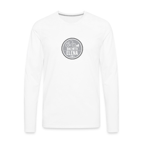 bike with elena - Men's Premium Long Sleeve T-Shirt