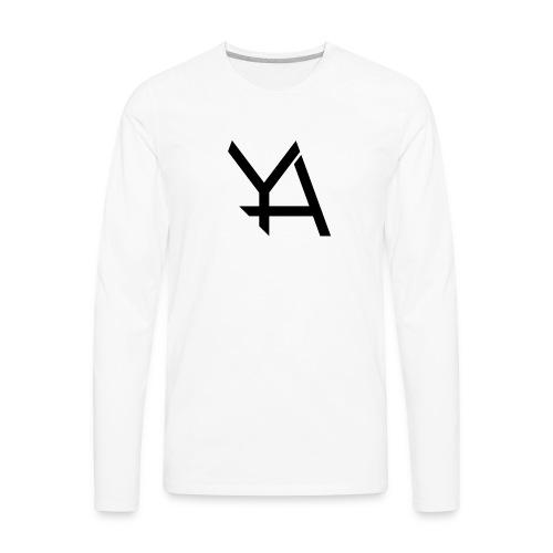 Young Adamant Black Logo - Men's Premium Long Sleeve T-Shirt