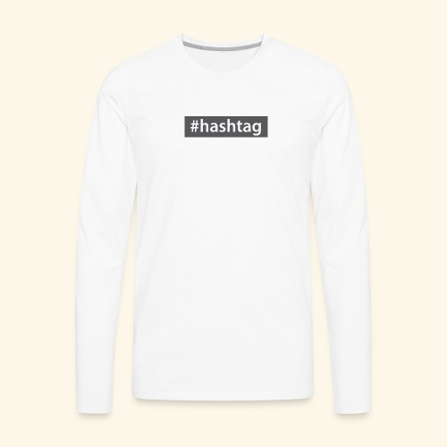 hashtag - Men's Premium Long Sleeve T-Shirt