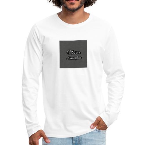 Slogan White Grey2 - Men's Premium Long Sleeve T-Shirt