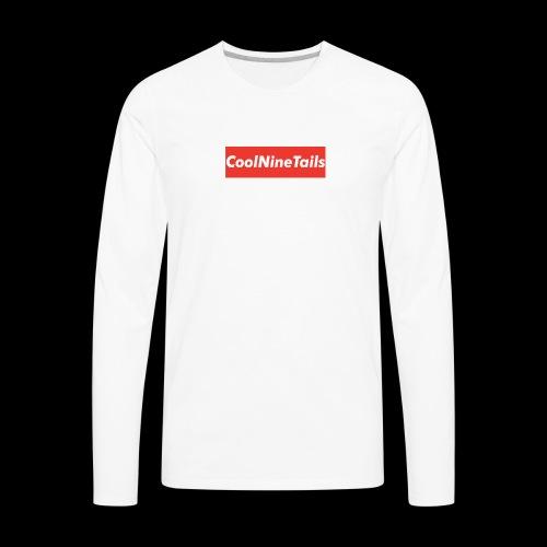 CoolNineTails supreme logo - Men's Premium Long Sleeve T-Shirt