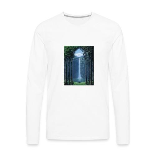 Waterfall lake - Men's Premium Long Sleeve T-Shirt
