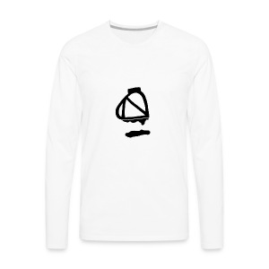 Tea Album Symbol - Men's Premium Long Sleeve T-Shirt