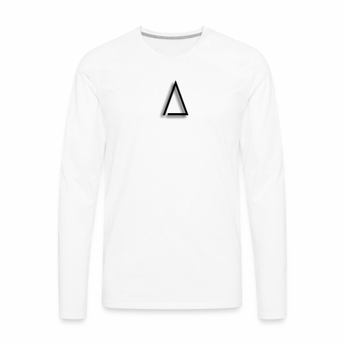 A / Tri / illuminated / Alpha / triathlete - Men's Premium Long Sleeve T-Shirt