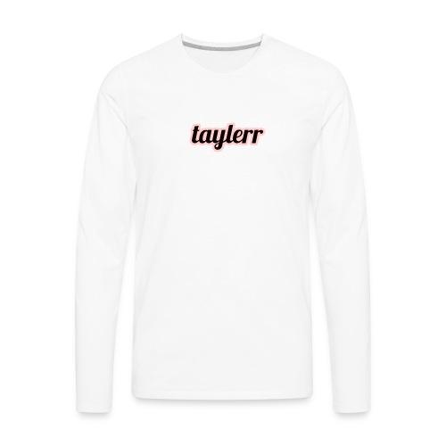 Taylerr Brand Bold Logo // 2nd collection // - Men's Premium Long Sleeve T-Shirt