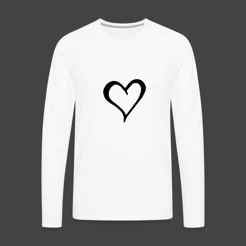 Heart Sketch - Men's Premium Long Sleeve T-Shirt