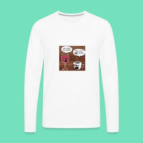 coffee v wine - Men's Premium Long Sleeve T-Shirt