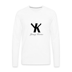 Young Kevino Official Logo (Black) - Men's Premium Long Sleeve T-Shirt