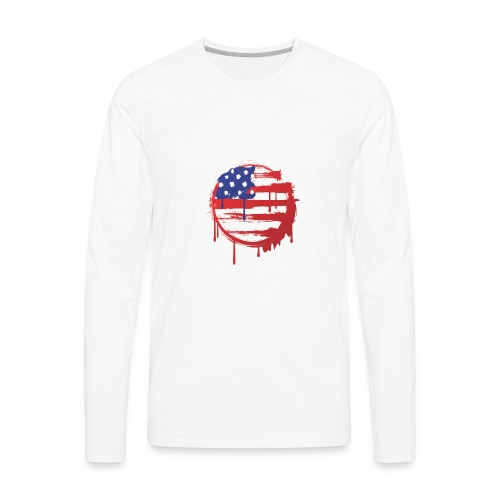 usa bleed - Men's Premium Long Sleeve T-Shirt