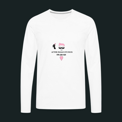 pink_beard_number baby/todd - Men's Premium Long Sleeve T-Shirt