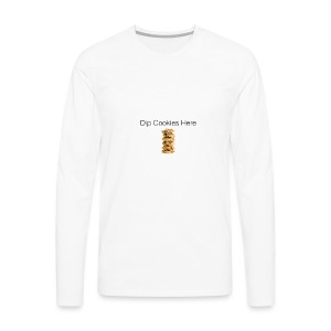 Dip Cookies Here mug - Men's Premium Long Sleeve T-Shirt