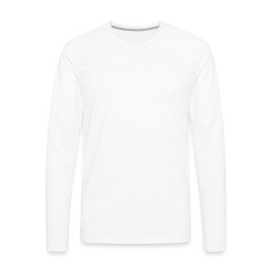 NF All White - Men's Premium Long Sleeve T-Shirt