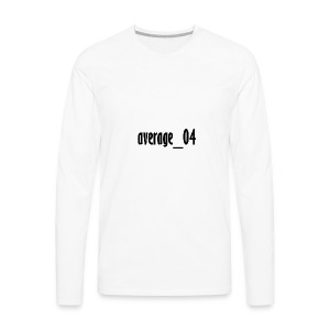 average_04 merch - Men's Premium Long Sleeve T-Shirt