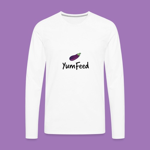 YumFeed logo - Men's Premium Long Sleeve T-Shirt
