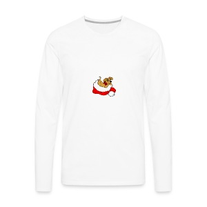 dog_xmas_color - Men's Premium Long Sleeve T-Shirt