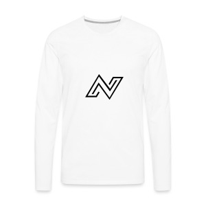 N Logo - Men's Premium Long Sleeve T-Shirt