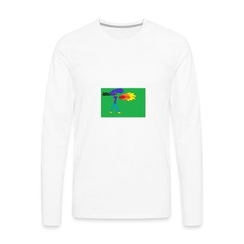 blazing_sky_katana - Men's Premium Long Sleeve T-Shirt