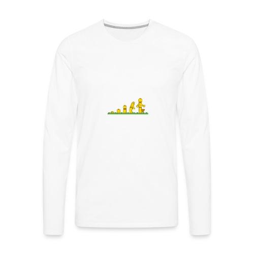 Lego Man Evolution - Men's Premium Long Sleeve T-Shirt