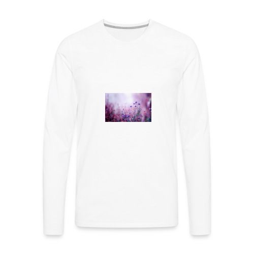 Life's field of flowers - Men's Premium Long Sleeve T-Shirt
