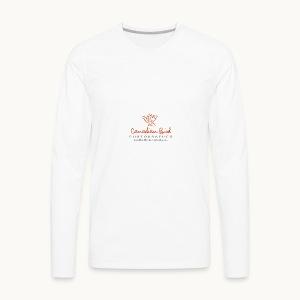Canadian Bird Photographer - BK Text - Men's Premium Long Sleeve T-Shirt