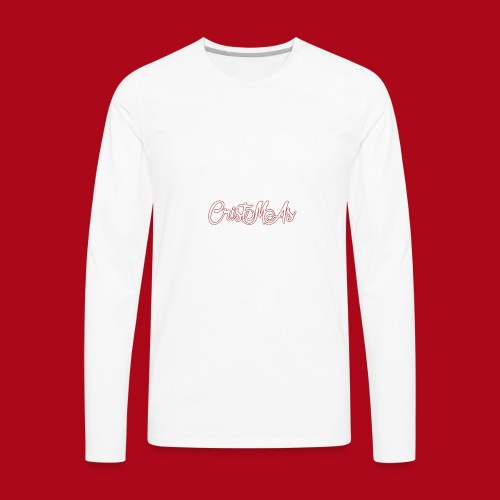 Christmas TEXT - Men's Premium Long Sleeve T-Shirt