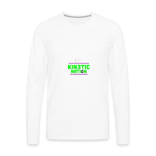 Green Kin3ticNation logo - Men's Premium Long Sleeve T-Shirt