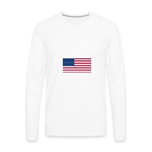 usa flag - Men's Premium Long Sleeve T-Shirt