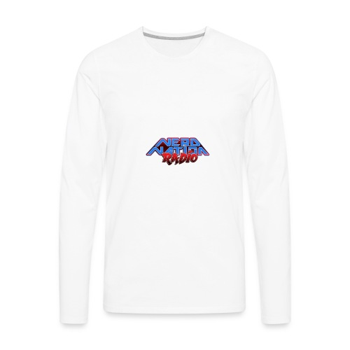 Nerd Nation Logo - Men's Premium Long Sleeve T-Shirt