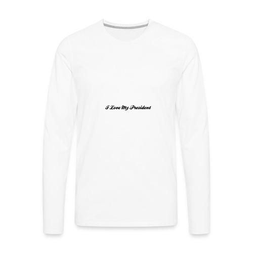transparent text effect - Men's Premium Long Sleeve T-Shirt
