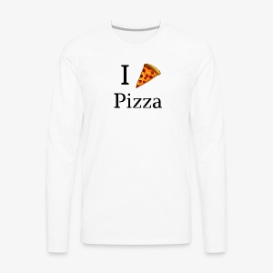 I Heart Pizza - Men's Premium Long Sleeve T-Shirt