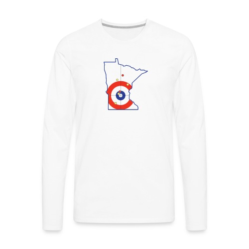 Minnesota Curling Rings - Men's Premium Long Sleeve T-Shirt