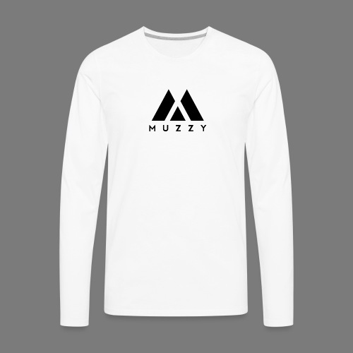 MUZZY Offical Logo Black - Men's Premium Long Sleeve T-Shirt