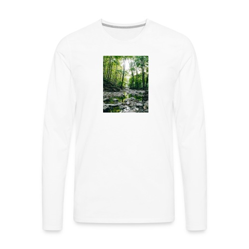 Forest Reflections - Men's Premium Long Sleeve T-Shirt