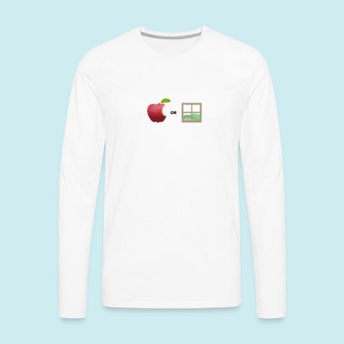 Apple or windows? - Men's Premium Long Sleeve T-Shirt