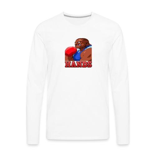 Balrog hands - Men's Premium Long Sleeve T-Shirt