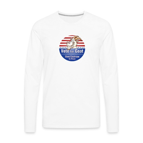 Vote for Goat Button Design - Men's Premium Long Sleeve T-Shirt