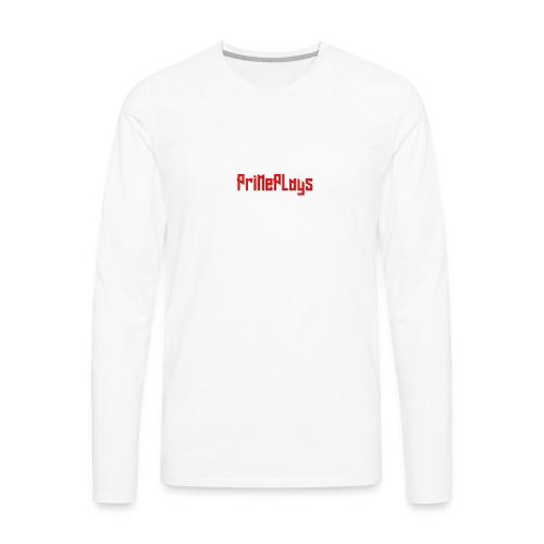 PriMePlays Official First T-Shirt - Men's Premium Long Sleeve T-Shirt
