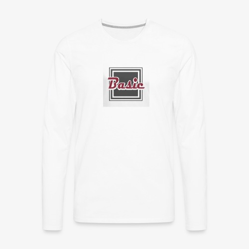 Basic logo - Men's Premium Long Sleeve T-Shirt