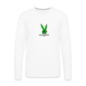 Marijuana Leaf Peace - Men's Premium Long Sleeve T-Shirt