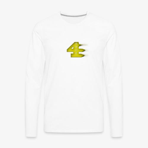 4orce (Yellow) - Men's Premium Long Sleeve T-Shirt