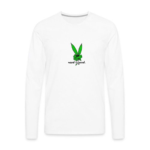 Marijuana Leaf Peace - Men's Premium Long Sleeve T-Shirt