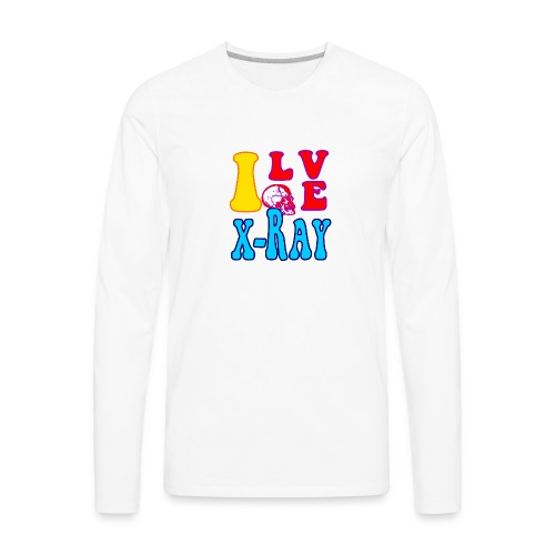I Love X-Ray - Men's Premium Long Sleeve T-Shirt