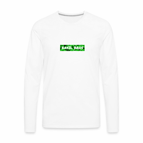 Basil Bros logo - Men's Premium Long Sleeve T-Shirt