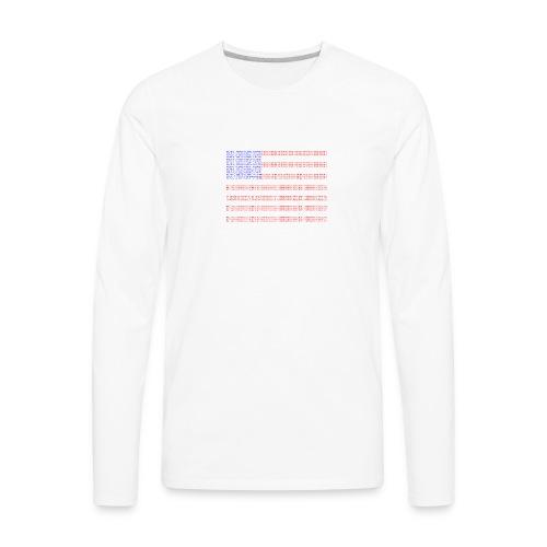 no trump no kkk USA flag - Men's Premium Long Sleeve T-Shirt
