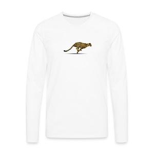 Cheetah Free PNG Image - Men's Premium Long Sleeve T-Shirt
